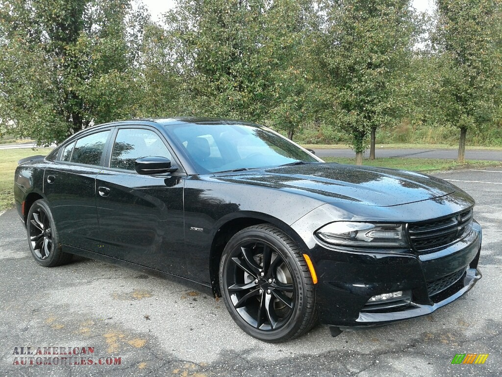 2016 Charger R/T - Pitch Black / Black photo #4