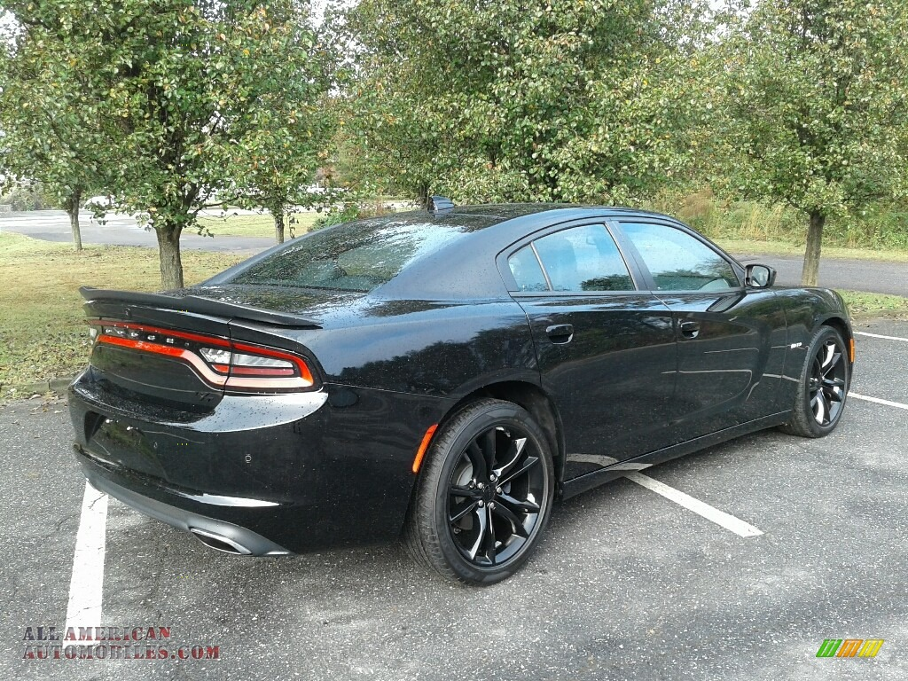 2016 Charger R/T - Pitch Black / Black photo #6