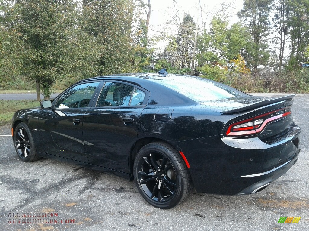 2016 Charger R/T - Pitch Black / Black photo #8