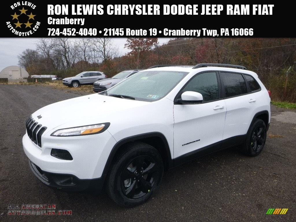 2018 Cherokee Limited 4x4 - Bright White / Black photo #1