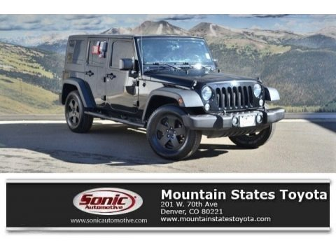 Black 2015 Jeep Wrangler Unlimited Sport 4x4