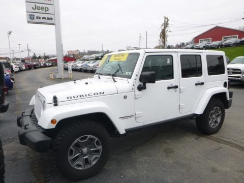 Bright White 2017 Jeep Wrangler Unlimited Rubicon 4x4