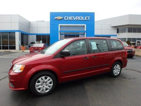 Deep Cherry Red Crystal Pearl 2014 Dodge Grand Caravan American Value Package