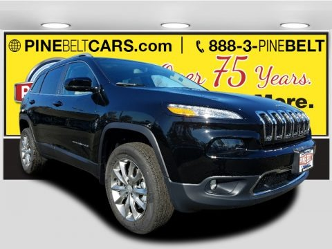 Diamond Black Crystal Pearl 2018 Jeep Cherokee Limited 4x4