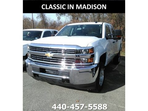 Summit White 2018 Chevrolet Silverado 2500HD Work Truck Double Cab 4x4