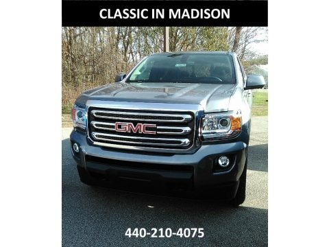 Satin Steel Metallic 2018 GMC Canyon SLE Extended Cab 4x4