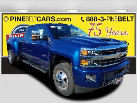 Deep Ocean Blue Metallic 2018 Chevrolet Silverado 3500HD High Country Crew Cab 4x4