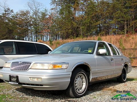 Silver Frost Metallic 1997 Mercury Grand Marquis LS