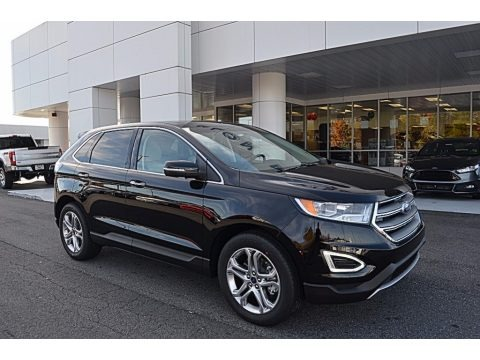 Shadow Black 2018 Ford Edge Titanium