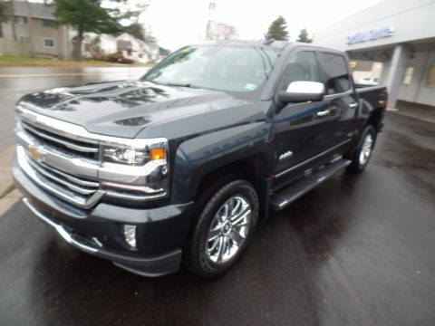 Graphite Metallic 2018 Chevrolet Silverado 1500 High Country Crew Cab 4x4