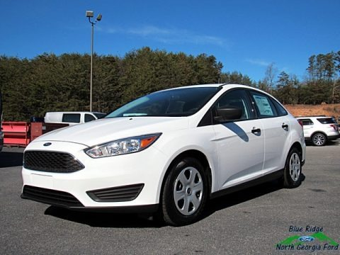 Oxford White 2017 Ford Focus S Sedan