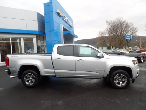Silver Ice Metallic 2018 Chevrolet Colorado Z71 Crew Cab 4x4