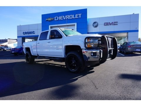 Summit White 2018 Chevrolet Silverado 2500HD LT Crew Cab 4x4