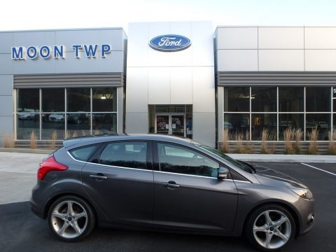 Sterling Gray 2013 Ford Focus Titanium Hatchback