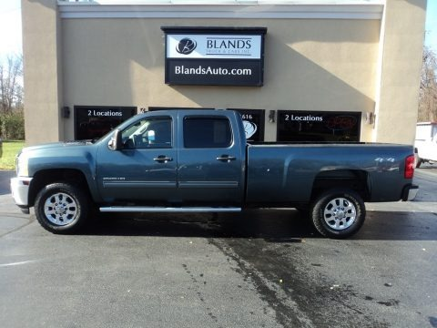 Blue Granite Metallic 2013 Chevrolet Silverado 2500HD LT Crew Cab 4x4
