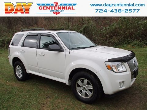 White Suede 2010 Mercury Mariner I4 4WD