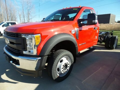 Race Red 2017 Ford F550 Super Duty XL Regular Cab 4x4 Chassis