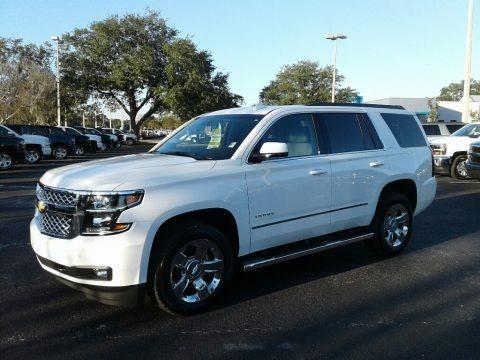 Summit White 2018 Chevrolet Tahoe LT