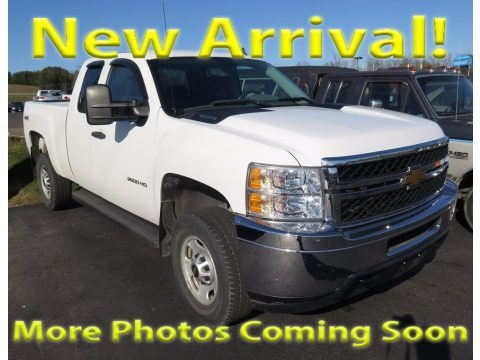 Summit White 2013 Chevrolet Silverado 2500HD Work Truck Extended Cab 4x4