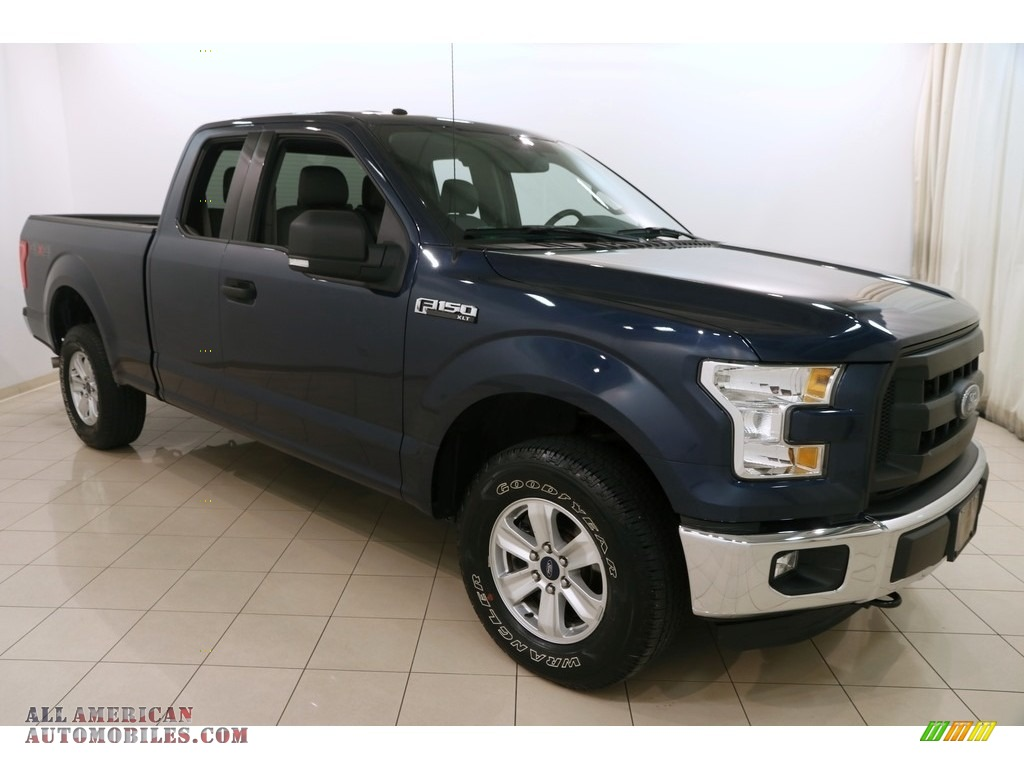2015 F150 XLT SuperCab 4x4 - Blue Jeans Metallic / Medium Earth Gray photo #1