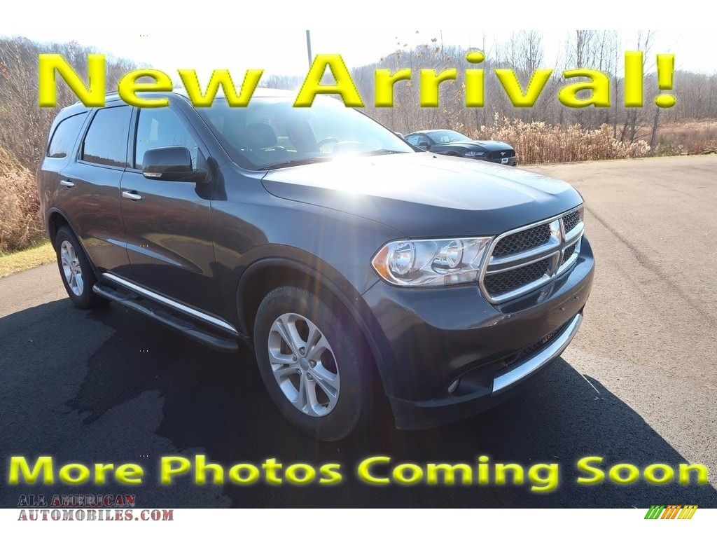 Mineral Gray Metallic / Black Dodge Durango Crew AWD