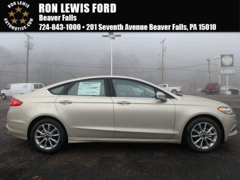 White Gold 2017 Ford Fusion SE