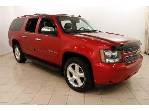 Crystal Red Tintcoat 2014 Chevrolet Suburban LT 4x4