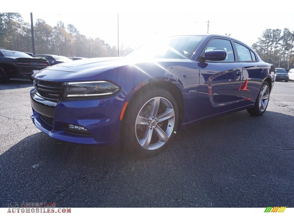 IndiGo Blue / Black Dodge Charger R/T