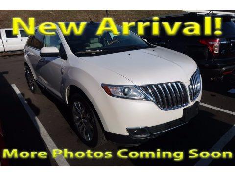 White Platinum Metallic Tri-Coat 2014 Lincoln MKX FWD