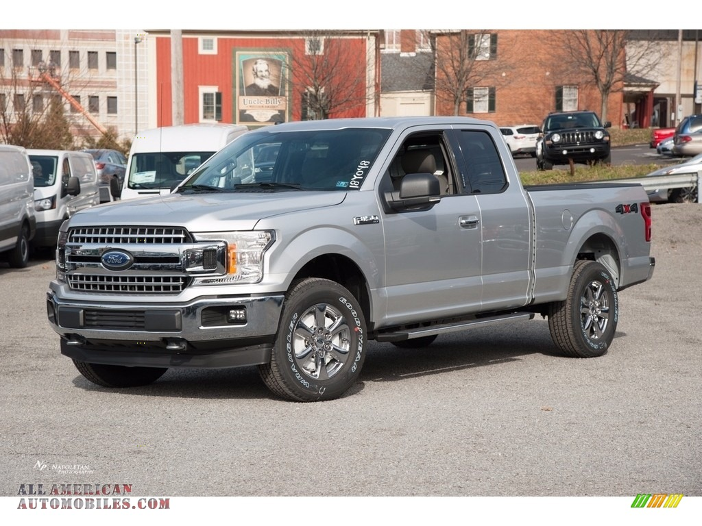2018 F150 XLT SuperCab 4x4 - Ingot Silver / Earth Gray photo #1