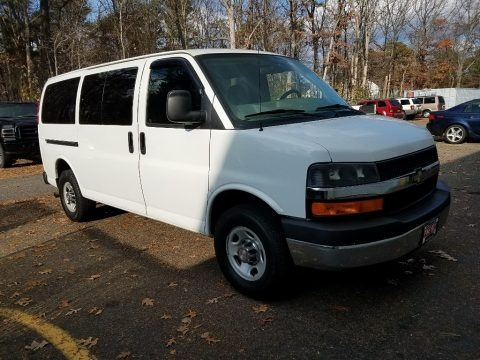 Summit White 2009 Chevrolet Express LT 3500 Passenger Van