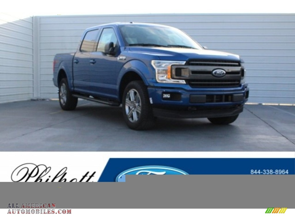 2018 F150 XLT SuperCrew 4x4 - Lightning Blue / Black photo #1