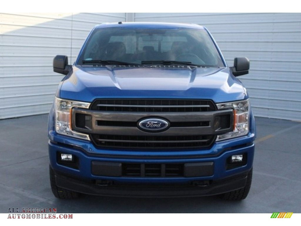 2018 F150 XLT SuperCrew 4x4 - Lightning Blue / Black photo #2