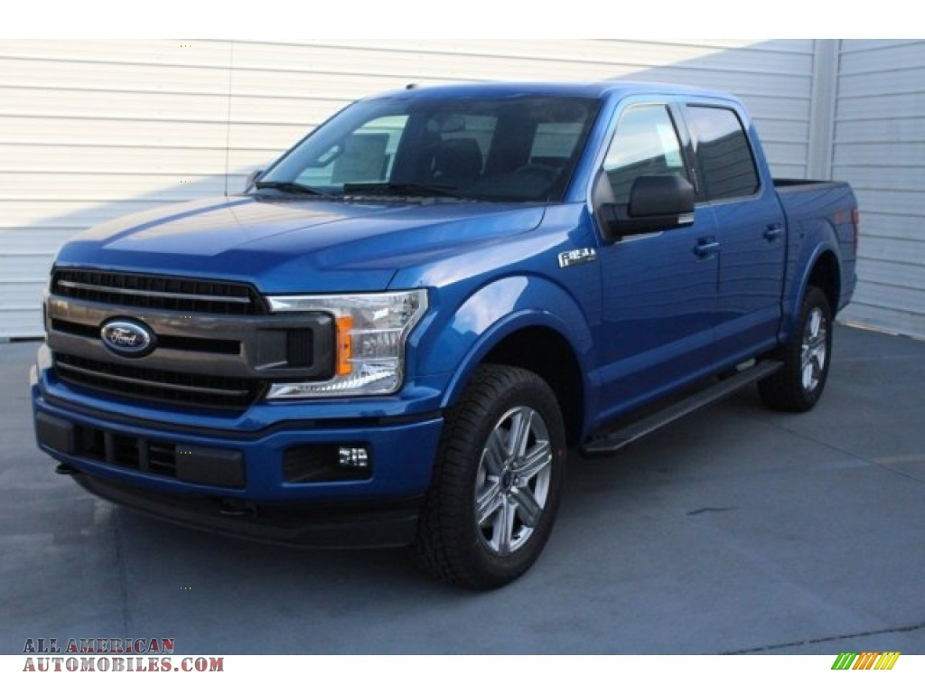 2018 F150 XLT SuperCrew 4x4 - Lightning Blue / Black photo #3