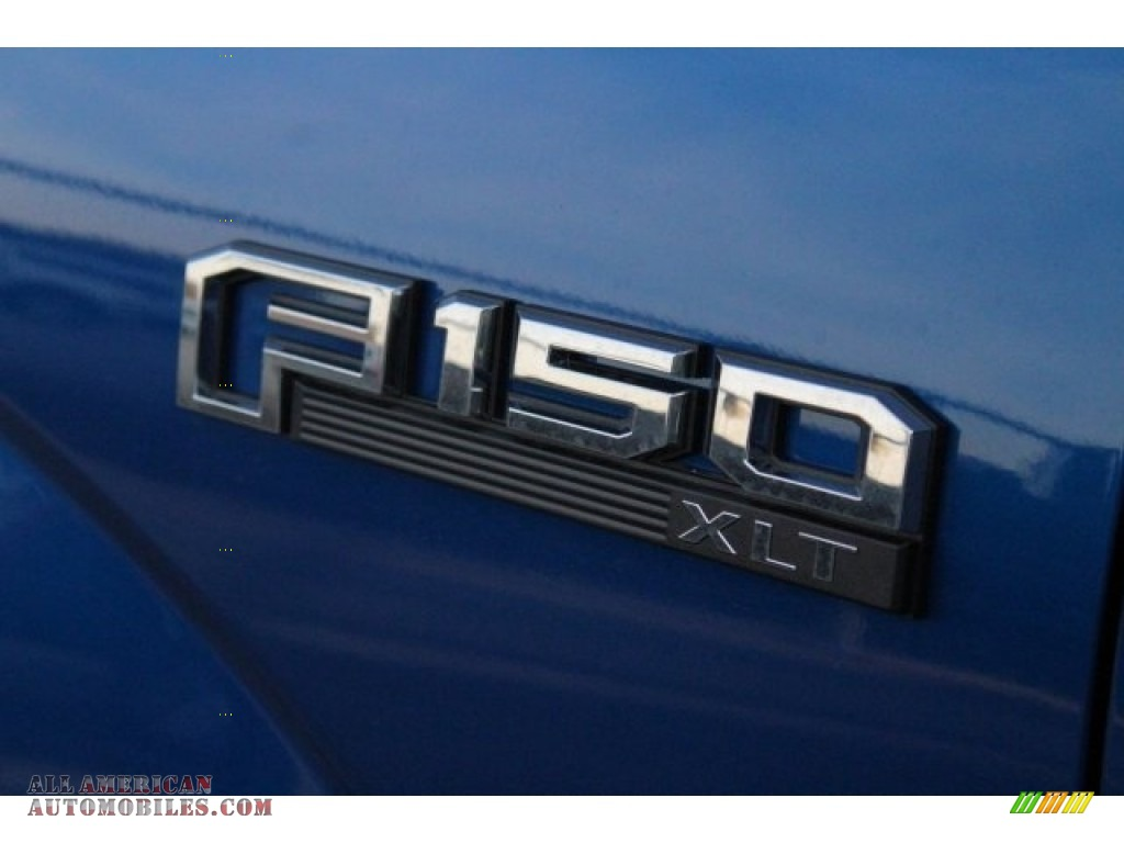 2018 F150 XLT SuperCrew 4x4 - Lightning Blue / Black photo #6