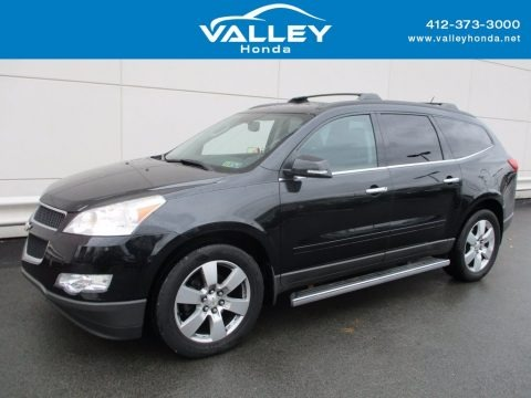 Black Granite Metallic 2011 Chevrolet Traverse LT AWD