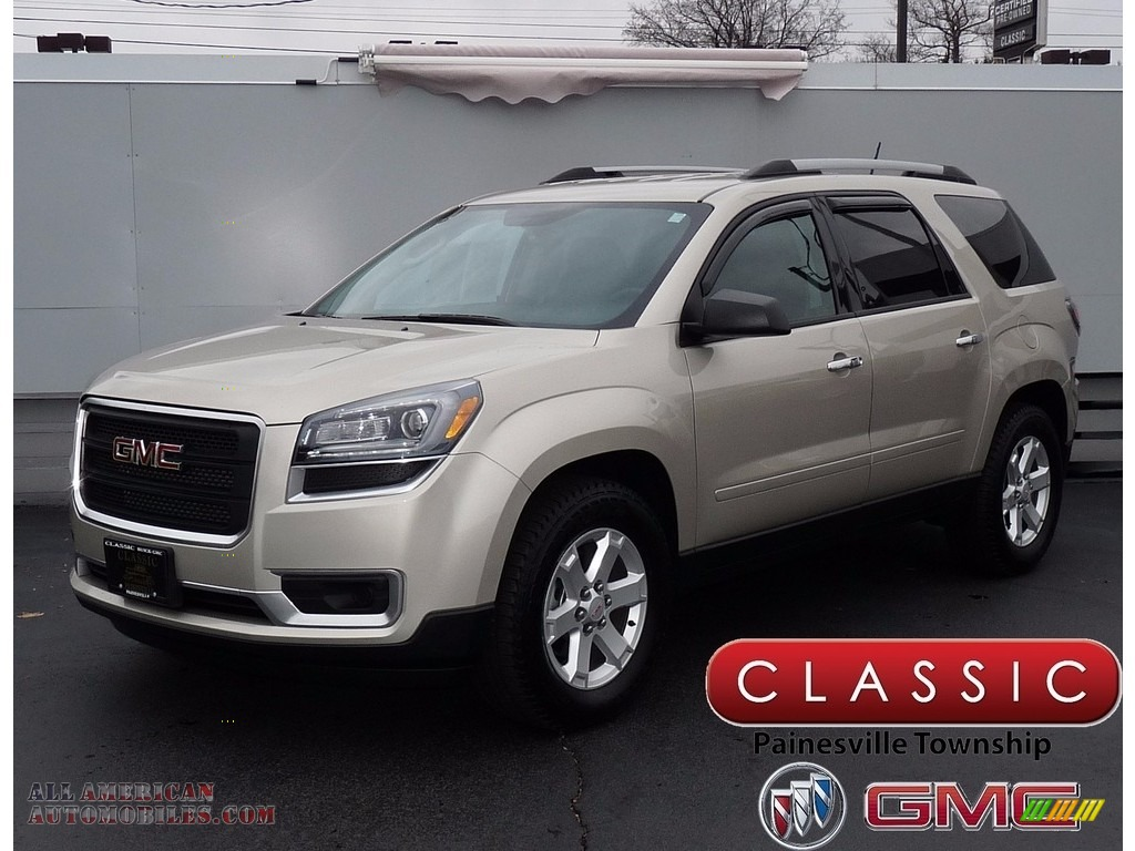 2015 Acadia SLE - Champagne Silver Metallic / Ebony photo #1
