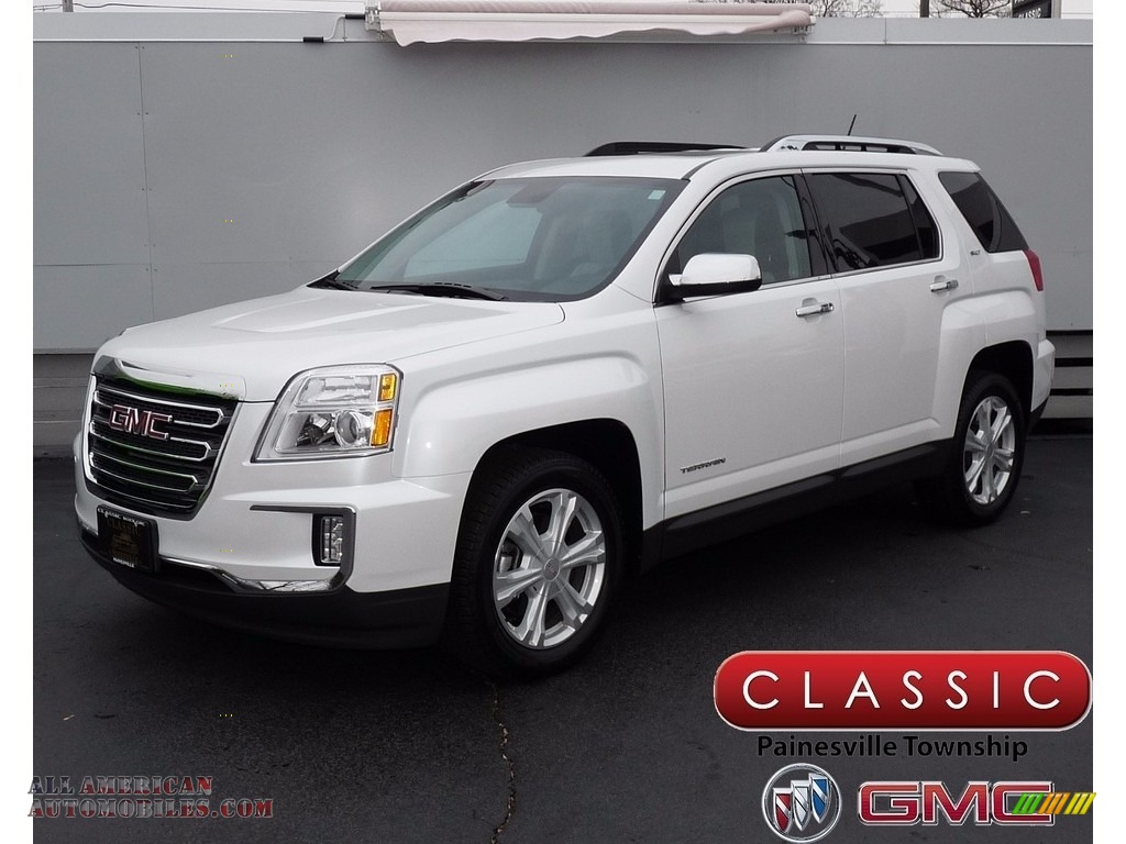 2016 Terrain SLT AWD - White Frost Tricoat / Light Titanium photo #1