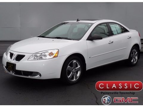 Summit White 2009 Pontiac G6 V6 Sedan