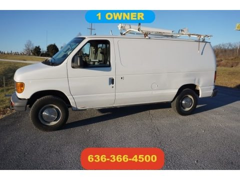 Oxford White 2006 Ford E Series Van E250 Commercial