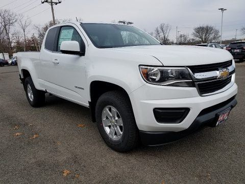 Summit White 2018 Chevrolet Colorado WT Extended Cab