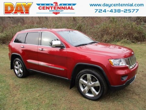 Inferno Red Crystal Pearl 2011 Jeep Grand Cherokee Overland 4x4