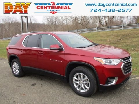 Cajun Red Tintcoat 2018 Chevrolet Traverse LT AWD