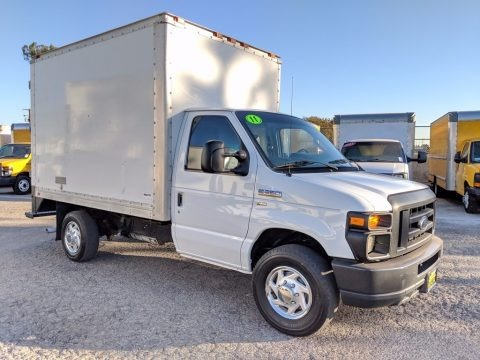 Oxford White 2011 Ford E Series Cutaway E350 Commercial Utility Truck