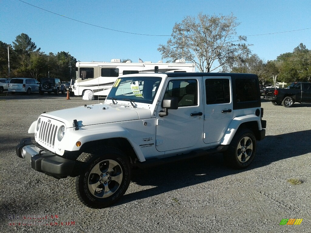 2018 Jeep Wrangler Unlimited Sahara 4x4 In Bright White