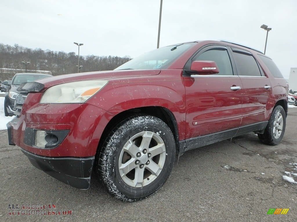 2009 Outlook XR AWD - Red Jewel Tintcoat / Black photo #1