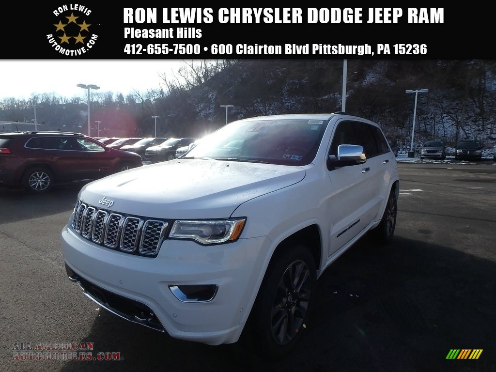2018 Grand Cherokee Overland 4x4 - Bright White / Black photo #1