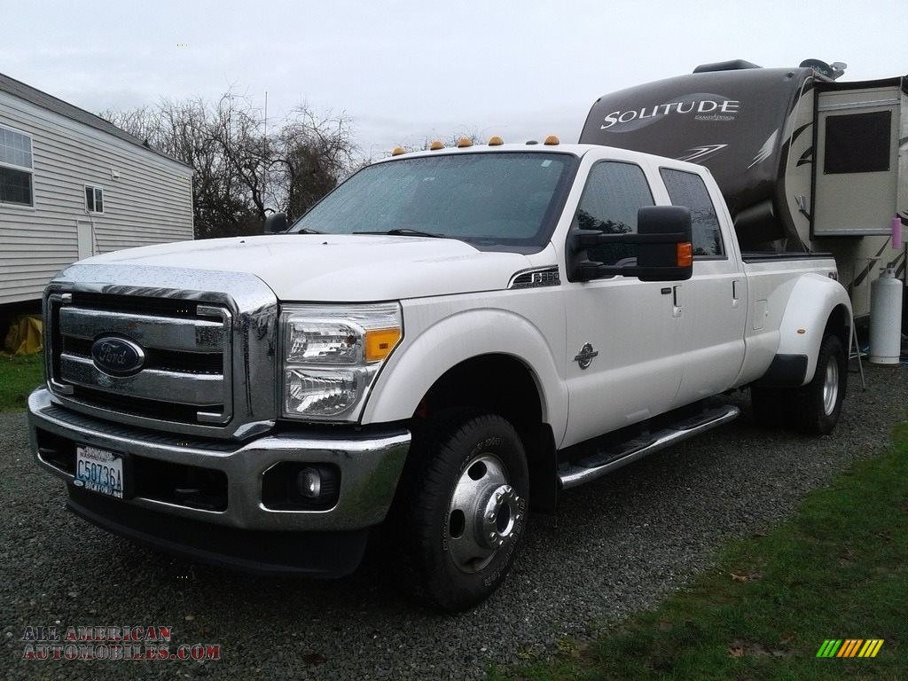 2014 Ford F350 Super Duty Platinum Crew Cab 4x4 Dually In White F 350 Tri Coat