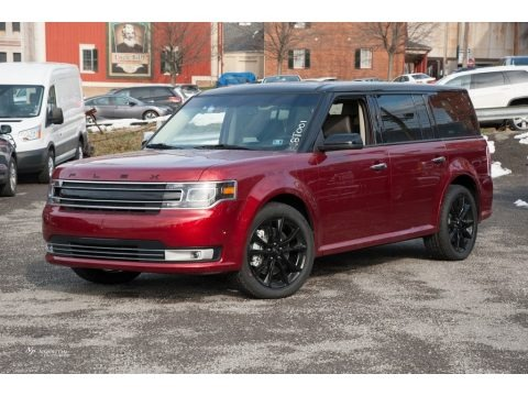Ruby Red 2018 Ford Flex Limited AWD