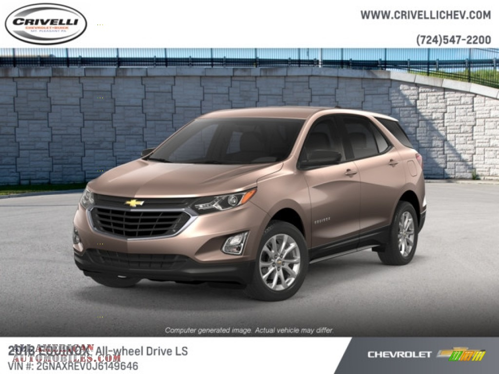 2018 Equinox LS AWD - Sandy Ridge Metallic / Medium Ash Gray photo #1